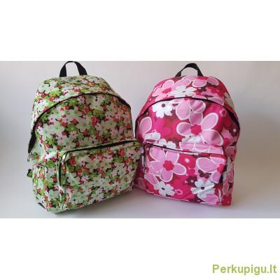 Kuprinė gėlėta + sportinis maišelis dovana