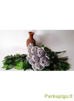 Rožė su kotu, pilkai violetinė sp., 10 vnt