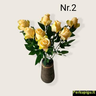 Rožė su kotu, gelsva sp. (Nr.2), 8 vnt
