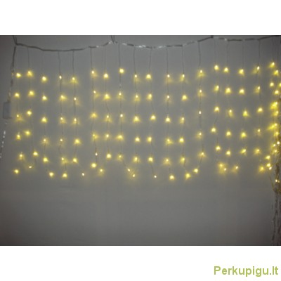 Girlianda LED varvekliai, gelsva sp,240 LED, 3 m.